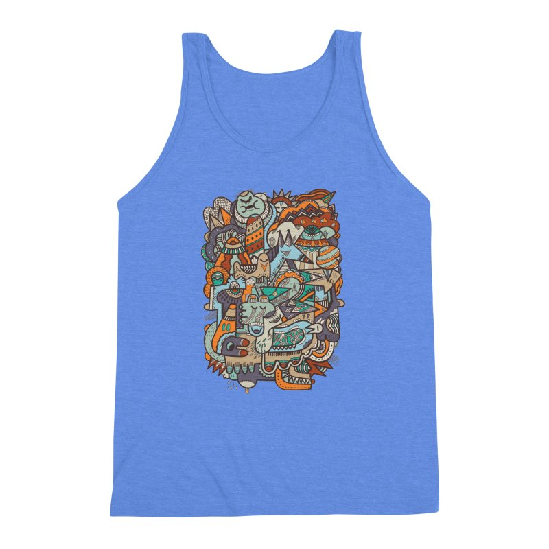 Punky dreamed of fairgrounds Men's Triblend Tank by uberkraaft's Artist Shop