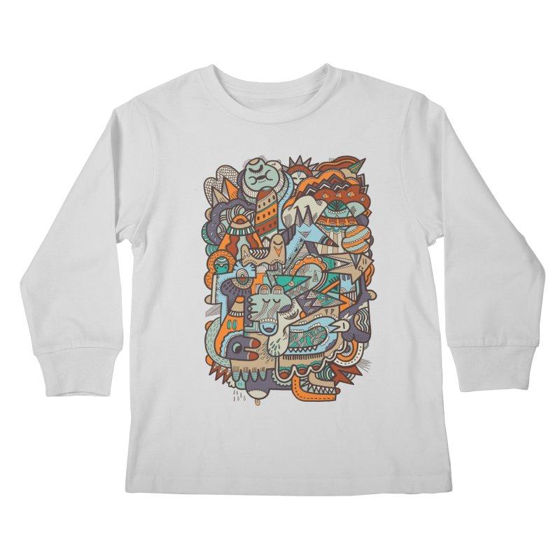 Punky dreamed of fairgrounds Kids Longsleeve T-Shirt by uberkraaft's Artist Shop