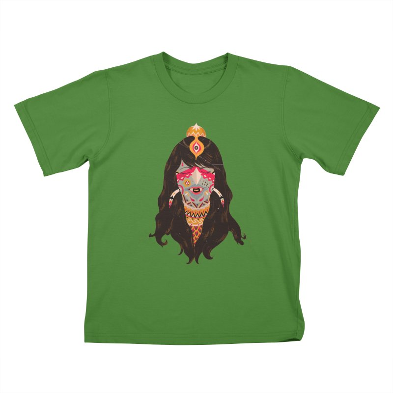 The witch of trees Kids T-shirt by uberkraaft's Artist Shop