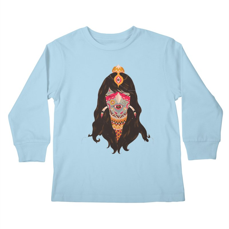 The witch of trees Kids Longsleeve T-Shirt by uberkraaft's Artist Shop