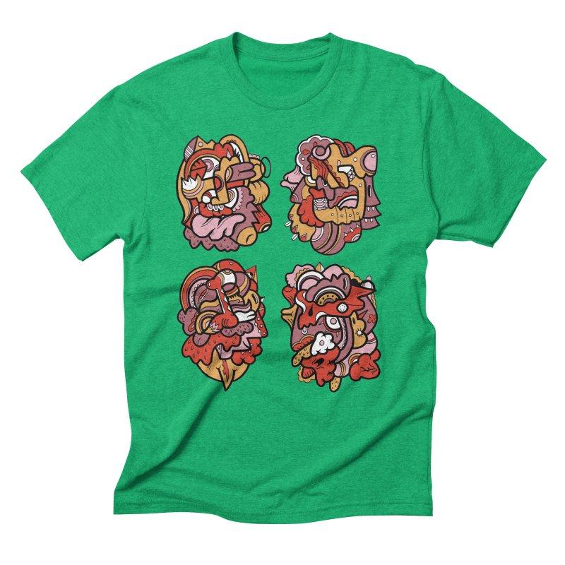 Fab Four Men's Triblend T-shirt by uberkraaft's Artist Shop
