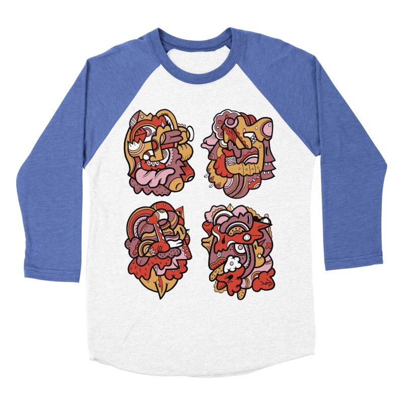 Fab Four Men's Baseball Triblend T-Shirt by uberkraaft's Artist Shop