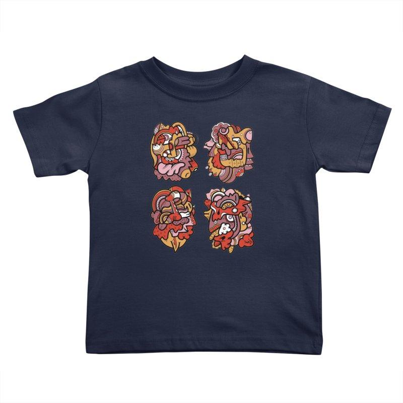 Fab Four Kids Toddler T-Shirt by uberkraaft's Artist Shop