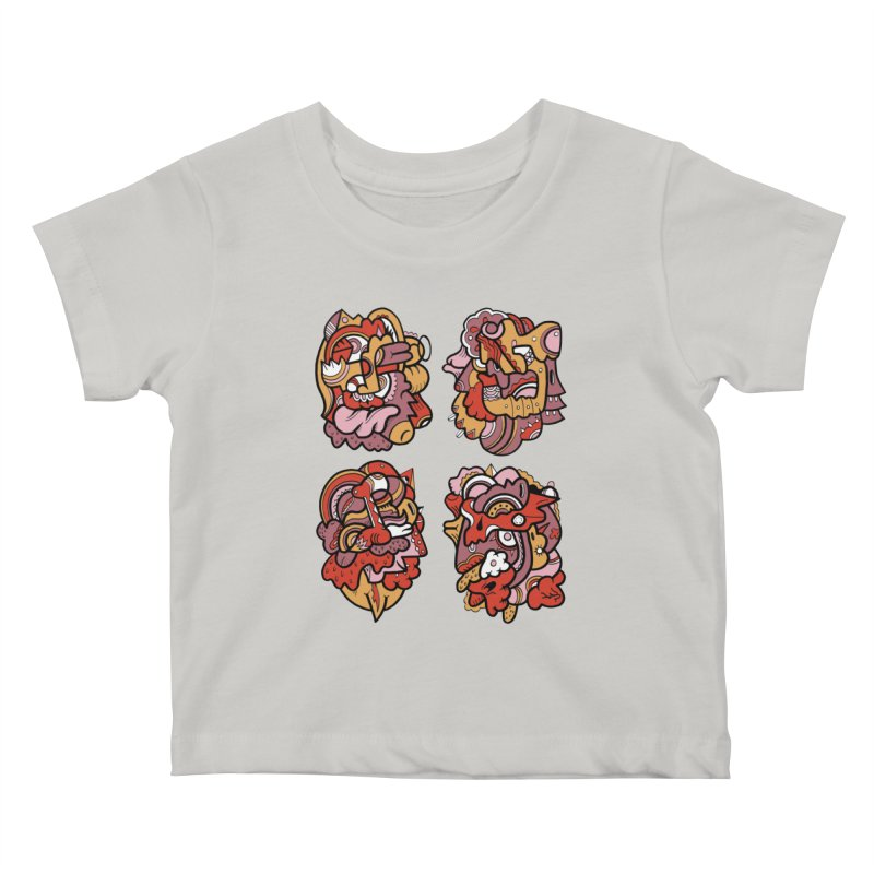 Fab Four Kids Baby T-Shirt by uberkraaft's Artist Shop
