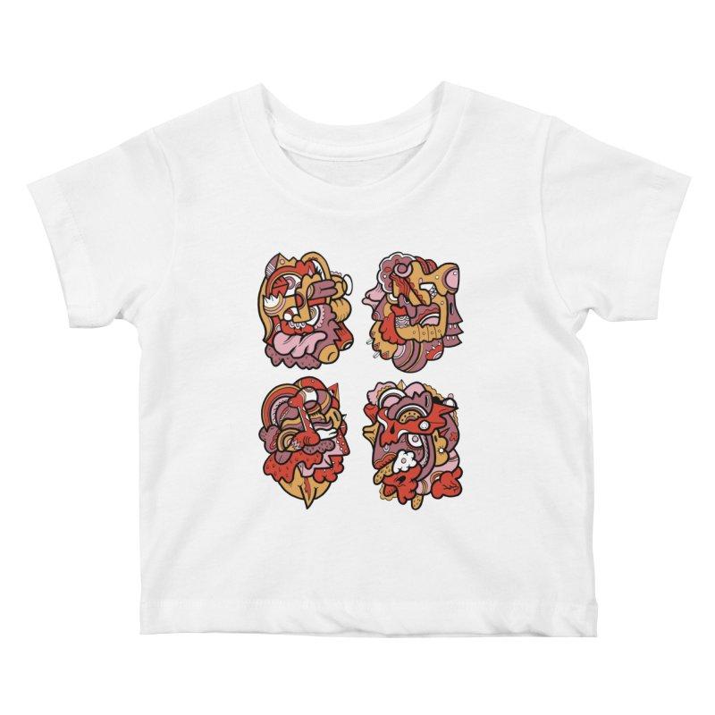 Fab Four Kids Baby T-Shirt by uberkraaft's Artist Shop