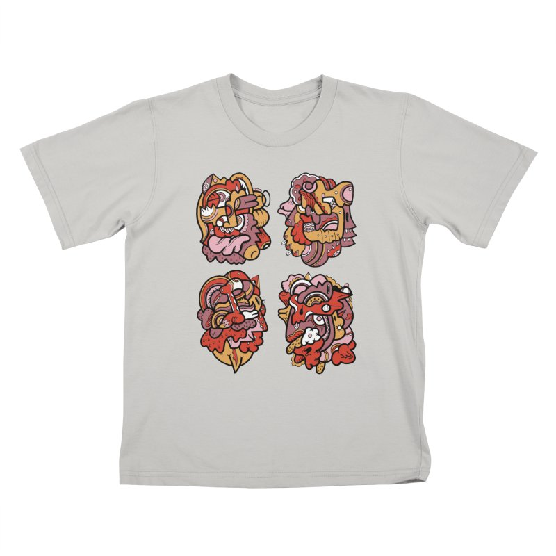 Fab Four Kids T-Shirt by uberkraaft's Artist Shop