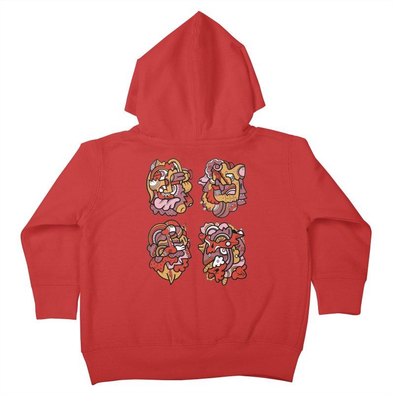 Fab Four Kids Toddler Zip-Up Hoody by uberkraaft's Artist Shop