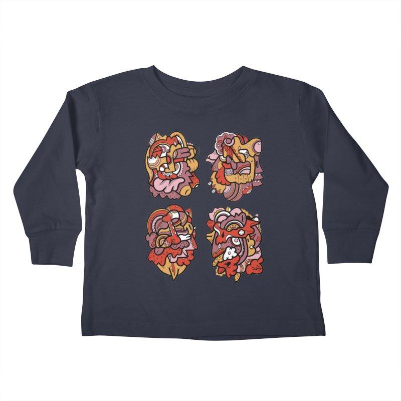 Fab Four Kids Toddler Longsleeve T-Shirt by uberkraaft's Artist Shop