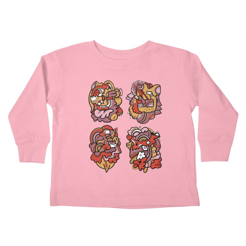 Fab Four Kids Toddler Longsleeve T-Shirt by uberkraaft's Artist Shop