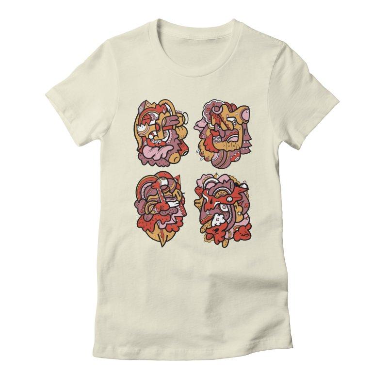 Fab Four Women's Fitted T-Shirt by uberkraaft's Artist Shop