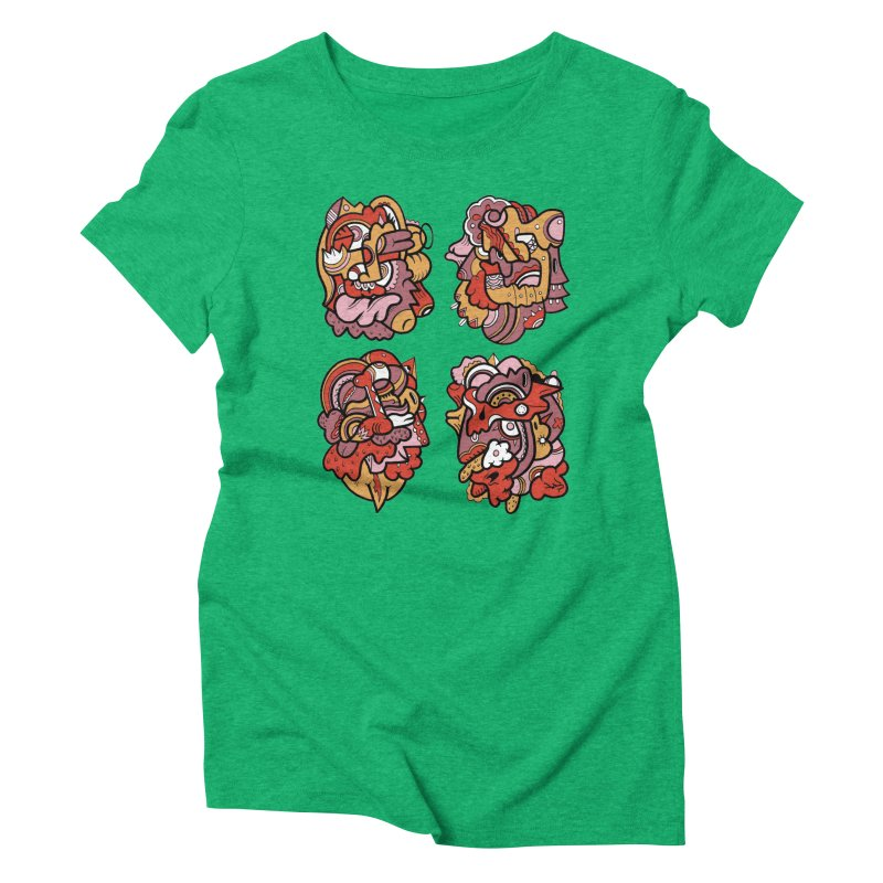 Fab Four Women's Triblend T-shirt by uberkraaft's Artist Shop
