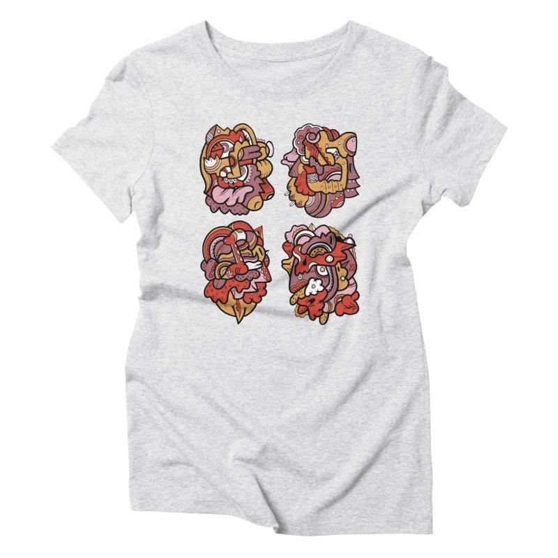 Fab Four Women's Triblend T-Shirt by uberkraaft's Artist Shop