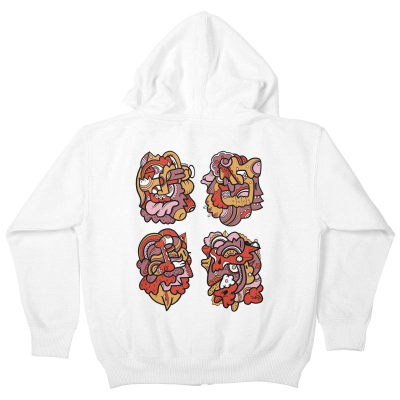Fab Four Kids Zip-Up Hoody by uberkraaft's Artist Shop
