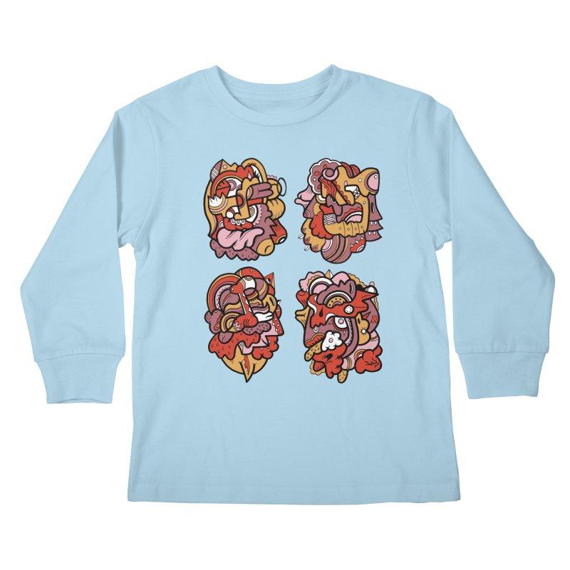 Fab Four Kids Longsleeve T-Shirt by uberkraaft's Artist Shop