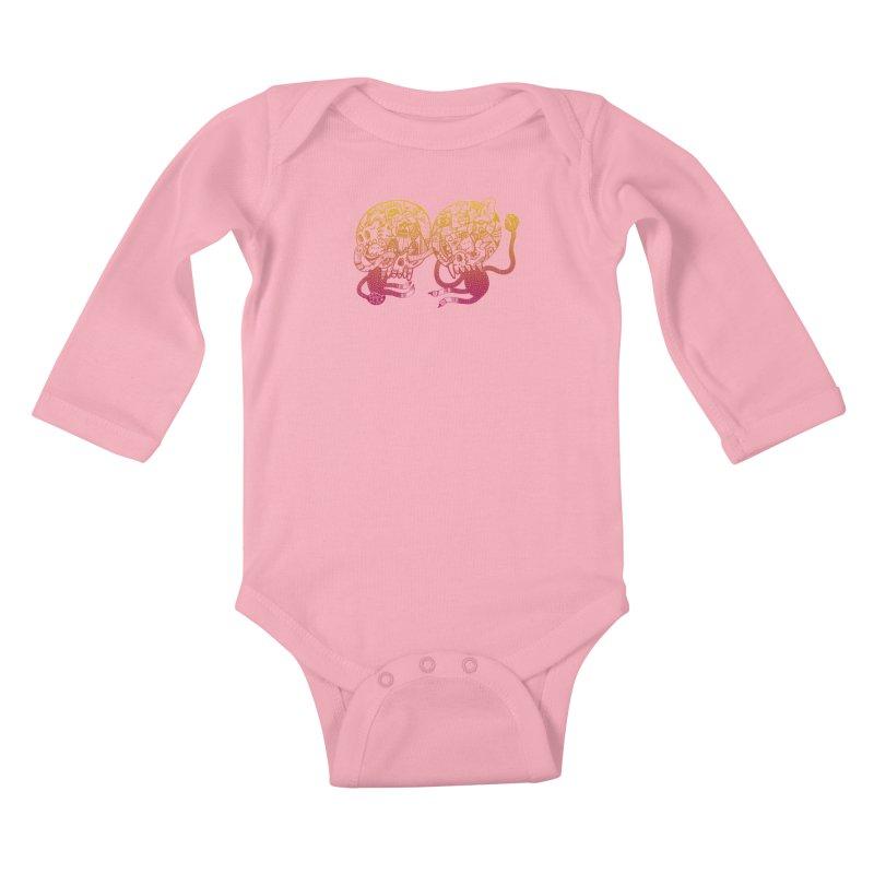 Otto und Marten Kids Baby Longsleeve Bodysuit by uberkraaft's Artist Shop