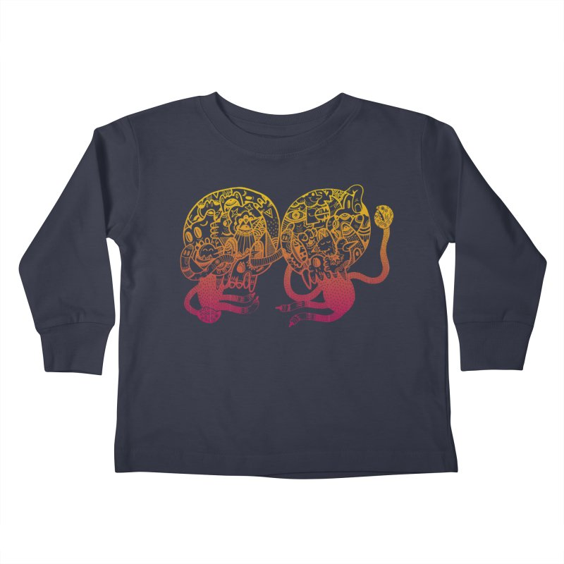 Otto und Marten Kids Toddler Longsleeve T-Shirt by uberkraaft's Artist Shop