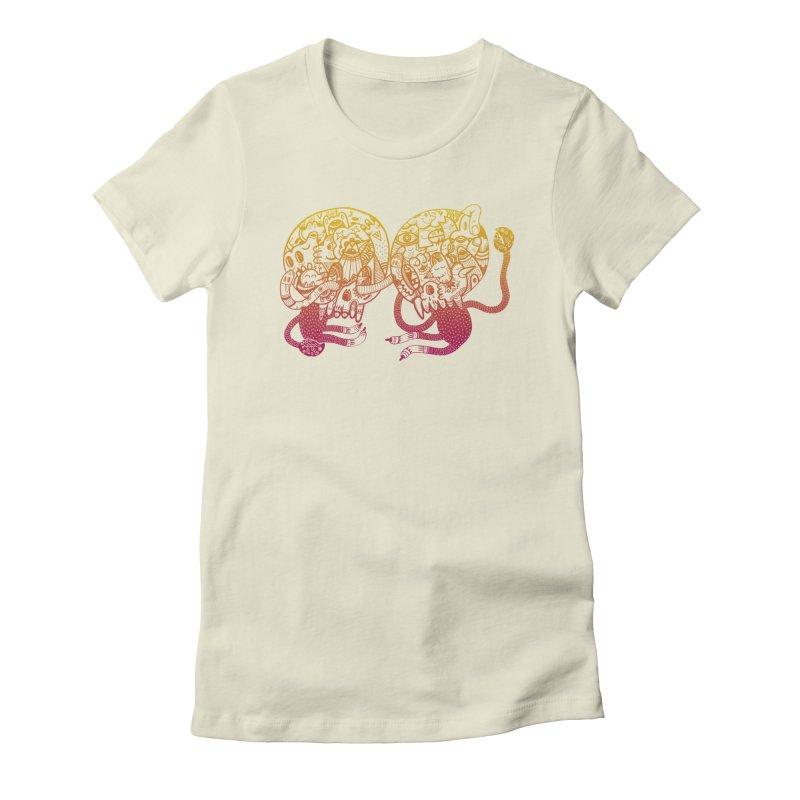 Otto und Marten Women's Fitted T-Shirt by uberkraaft's Artist Shop