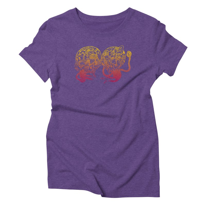 Otto und Marten in Women's Triblend T-shirt Tri-Purple by uberkraaft's Artist Shop