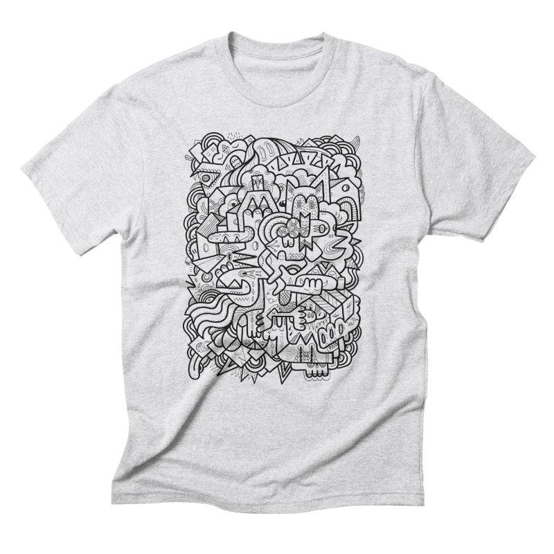 They might be in Men's Triblend T-Shirt Heather White by uberkraaft's Artist Shop