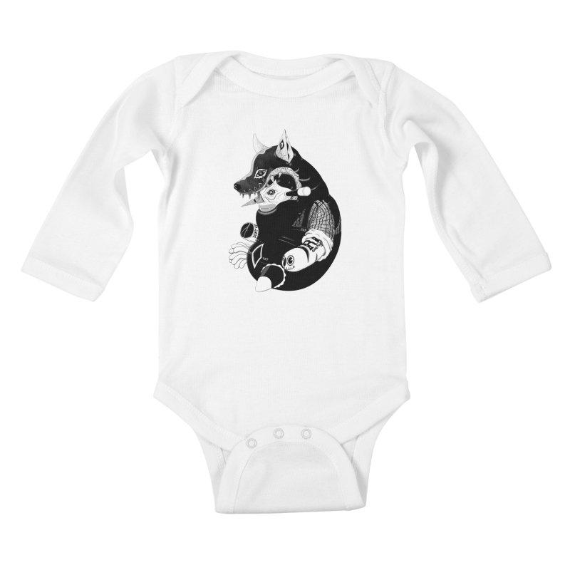 Volf Kids Baby Longsleeve Bodysuit by uberkraaft's Artist Shop