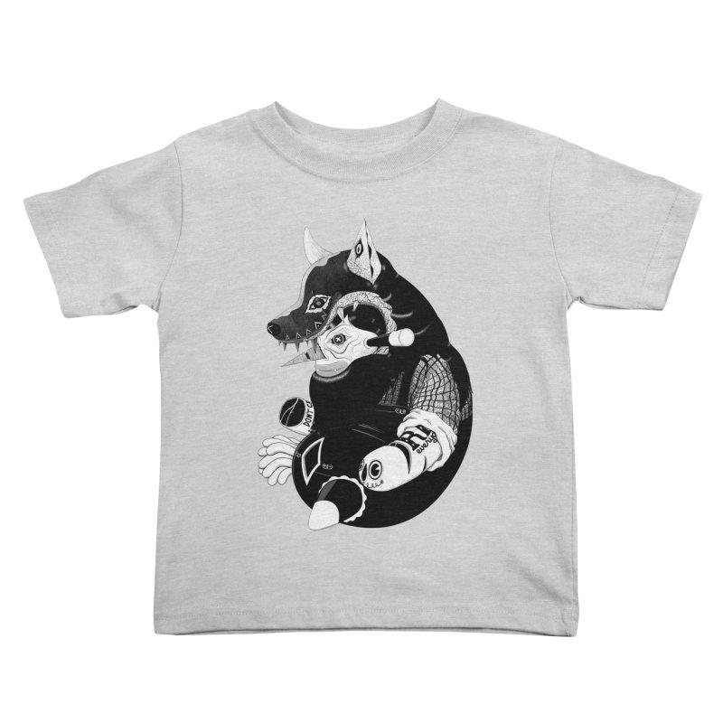 Volf Kids Toddler T-Shirt by uberkraaft's Artist Shop