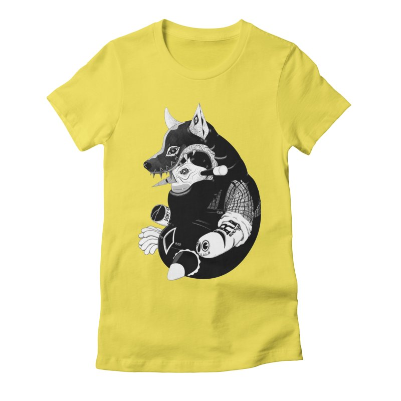 Volf Women's Fitted T-Shirt by uberkraaft's Artist Shop