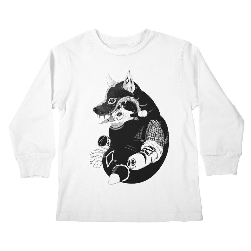 Volf Kids Longsleeve T-Shirt by uberkraaft's Artist Shop