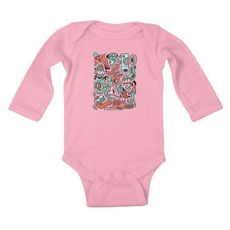 Maelstrom Kids Baby Longsleeve Bodysuit by uberkraaft's Artist Shop