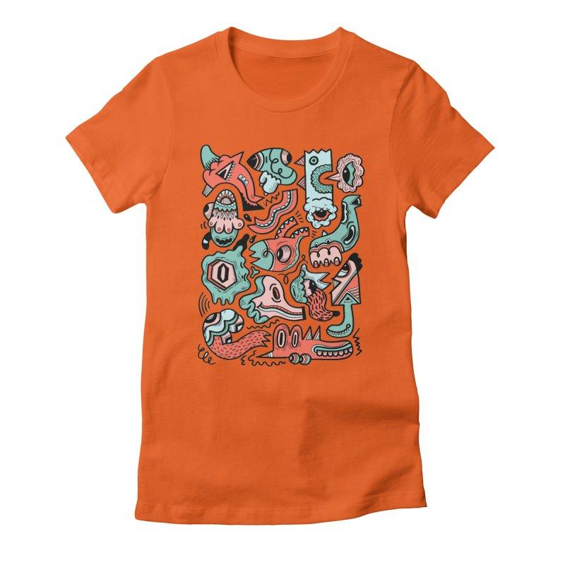 Maelstrom Women's Fitted T-Shirt by uberkraaft's Artist Shop