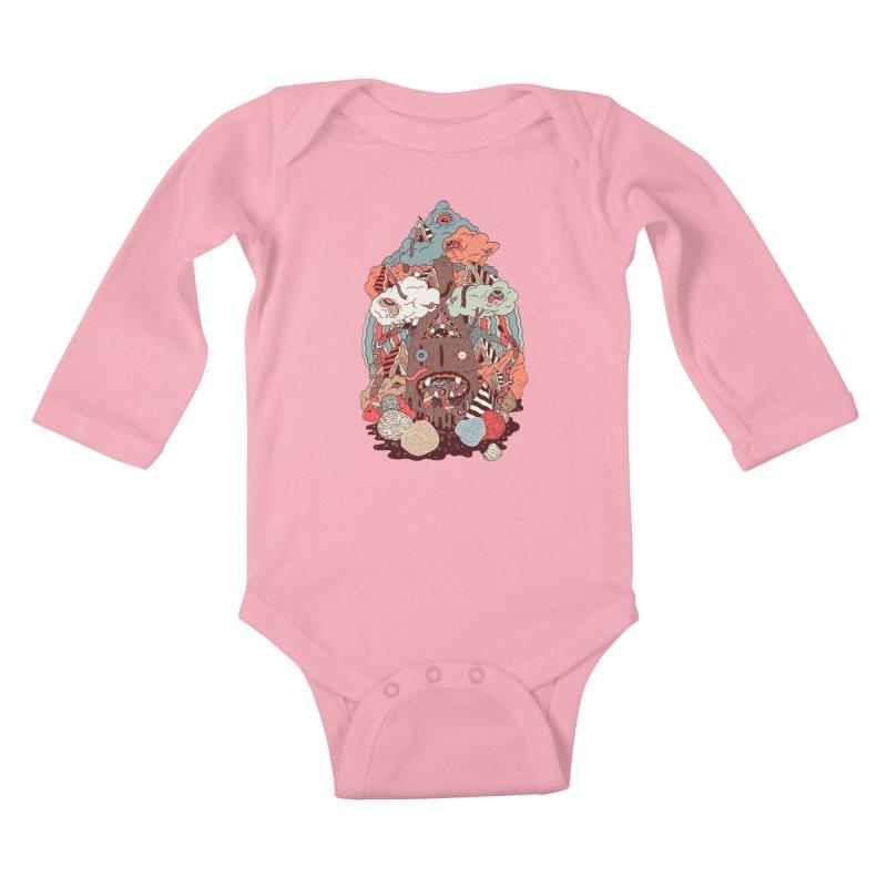 Of the forest Kids Baby Longsleeve Bodysuit by uberkraaft's Artist Shop