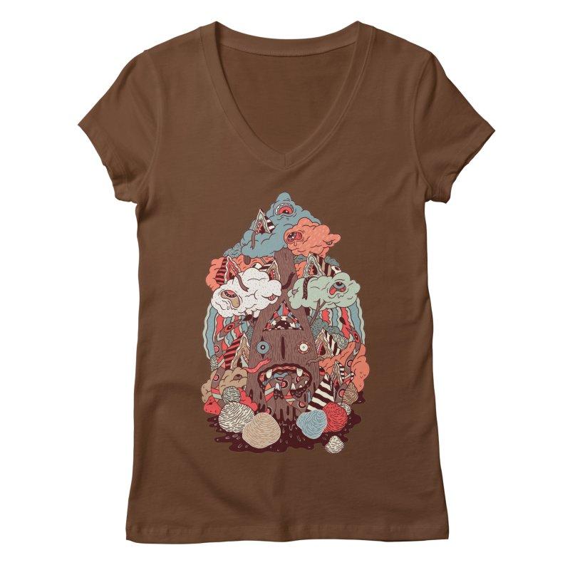 Of the forest Women's V-Neck by uberkraaft's Artist Shop