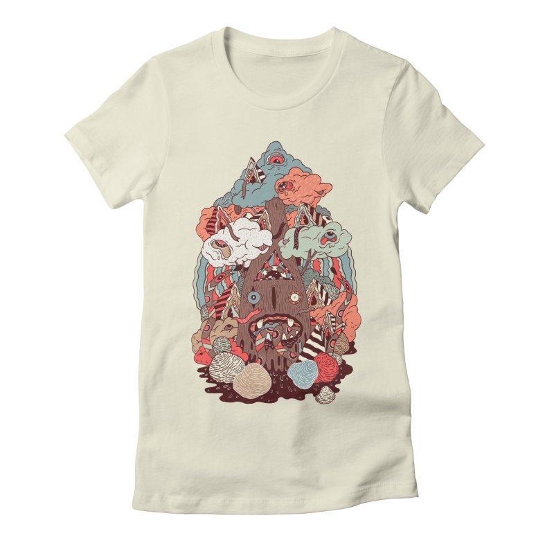 Of the forest Women's Fitted T-Shirt by uberkraaft's Artist Shop
