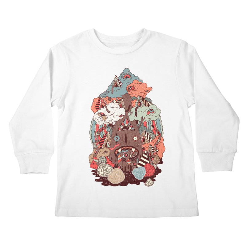 Of the forest Kids Longsleeve T-Shirt by uberkraaft's Artist Shop
