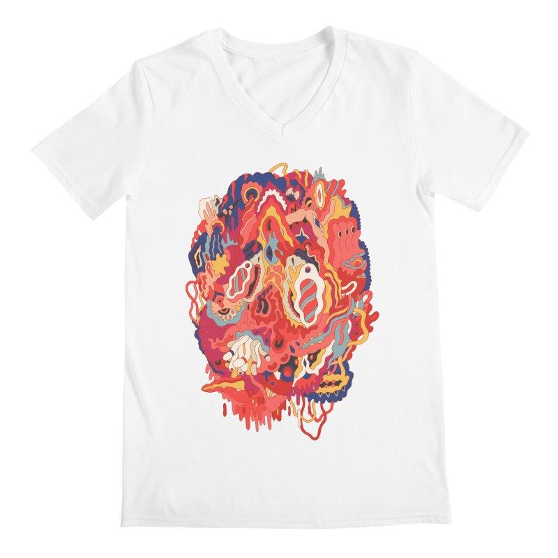 Head #32 Men's V-Neck by uberkraaft's Artist Shop