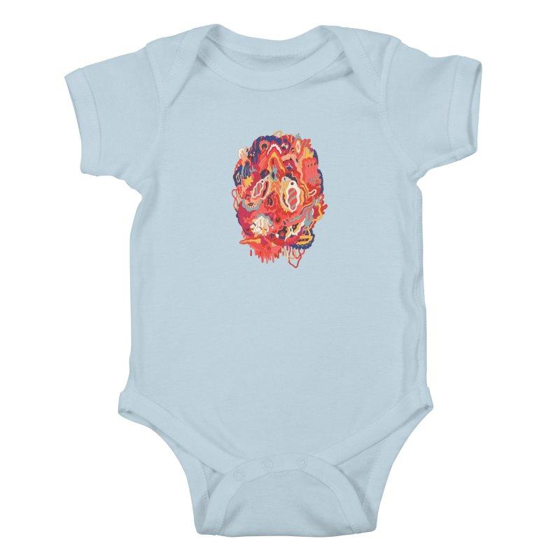 Head #32 Kids Baby Bodysuit by uberkraaft's Artist Shop
