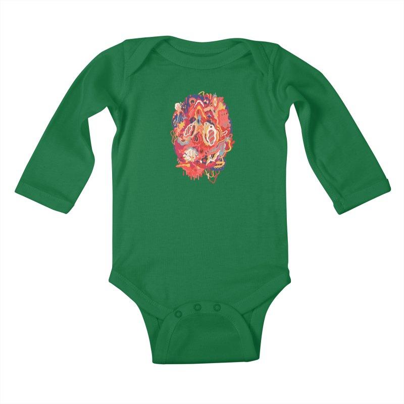 Head #32 Kids Baby Longsleeve Bodysuit by uberkraaft's Artist Shop