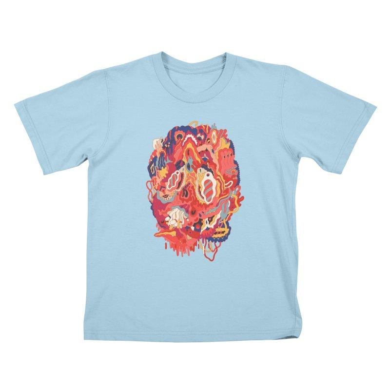 Head #32 Kids T-shirt by uberkraaft's Artist Shop