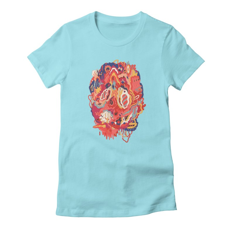 Head #32 Women's Fitted T-Shirt by uberkraaft's Artist Shop