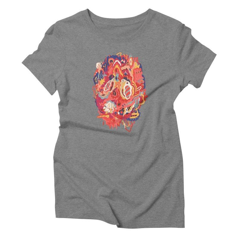 Head #32 Women's Triblend T-Shirt by uberkraaft's Artist Shop
