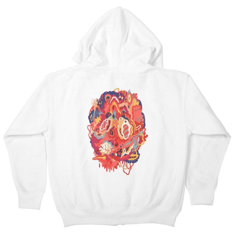 Head #32 Kids Zip-Up Hoody by uberkraaft's Artist Shop