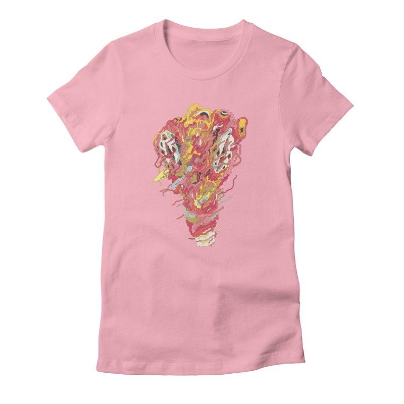 Melt! Women's Fitted T-Shirt by uberkraaft's Artist Shop