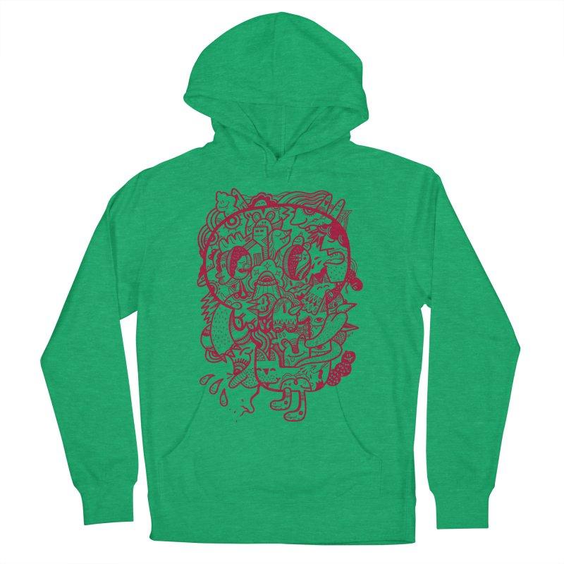 Skull Ochre Men's Pullover Hoody by uberkraaft's Artist Shop