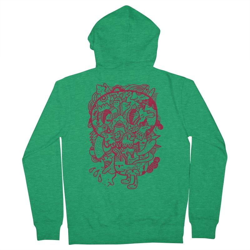 Skull Ochre Men's Zip-Up Hoody by uberkraaft's Artist Shop