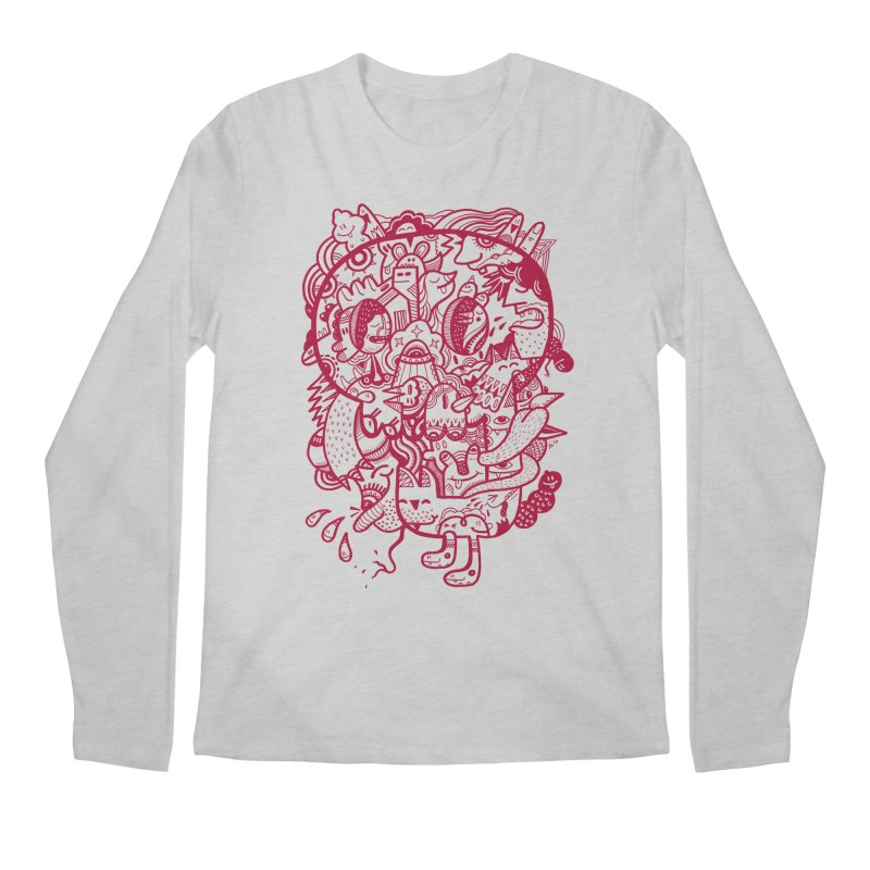 Skull Ochre Men's Longsleeve T-Shirt by uberkraaft's Artist Shop