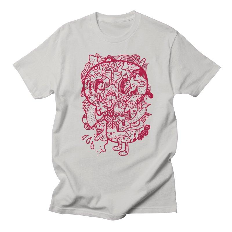 Skull Ochre in Men's T-Shirt Stone by uberkraaft's Artist Shop