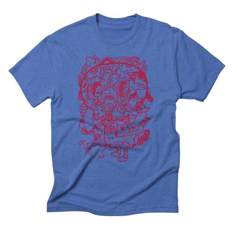 Skull Ochre Men's Triblend T-shirt by uberkraaft's Artist Shop