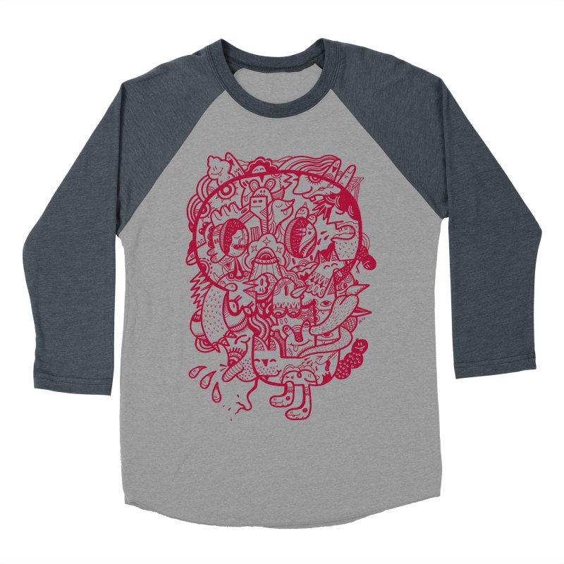 Skull Ochre Women's Baseball Triblend T-Shirt by uberkraaft's Artist Shop