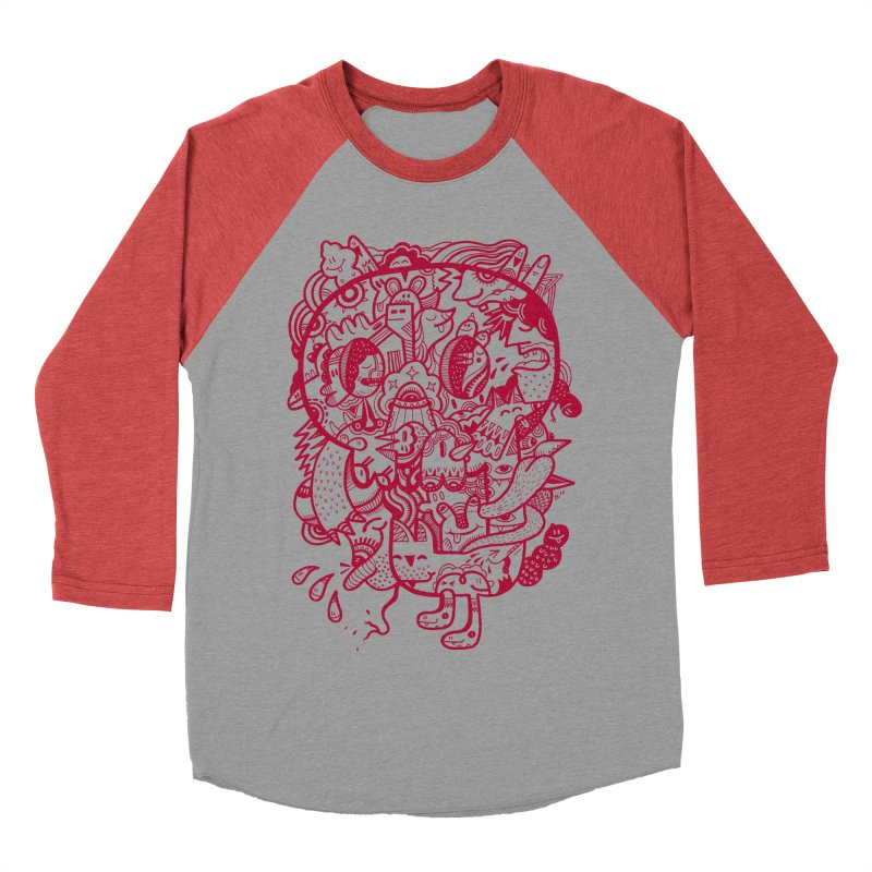 Skull Ochre Men's Baseball Triblend T-Shirt by uberkraaft's Artist Shop