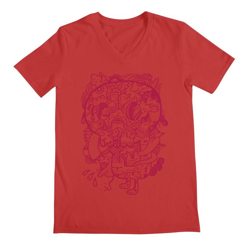 Skull Ochre Men's V-Neck by uberkraaft's Artist Shop