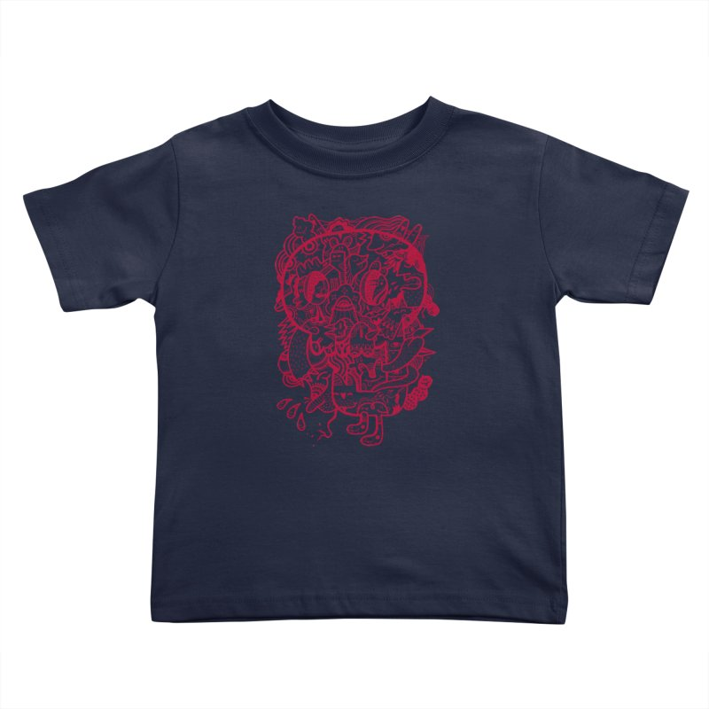 Skull Ochre Kids Toddler T-Shirt by uberkraaft's Artist Shop